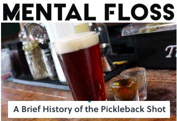 Mental Floss Writer Pickleback Shots